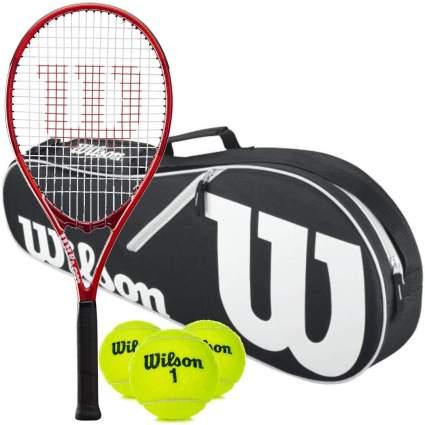 Wilson Federer Pro Staff Precision XL 110 Pre-Strung Tennis Racquet Set
