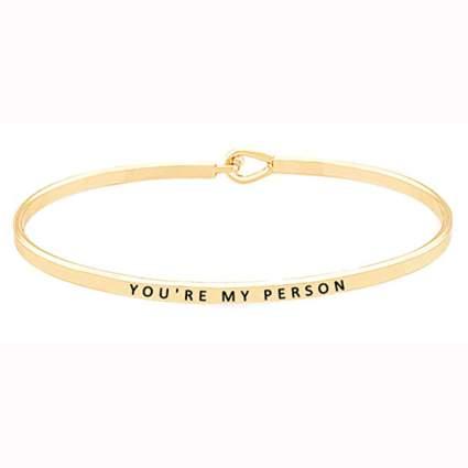 gold tone engraved bangle bracelet