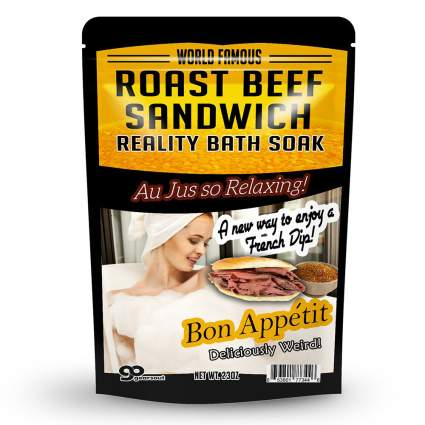 Roast beef novelty bath soak