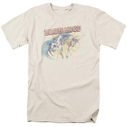 Tan faded bromance DC tshirt