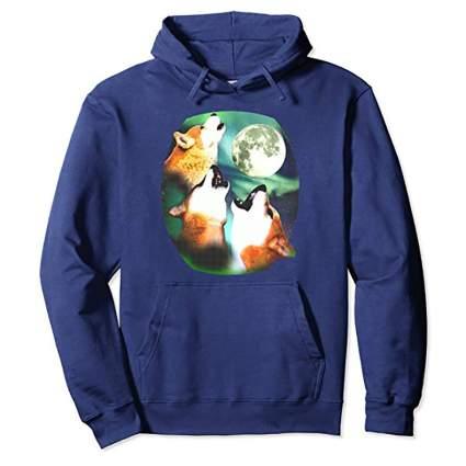 Three doge moon hoodie