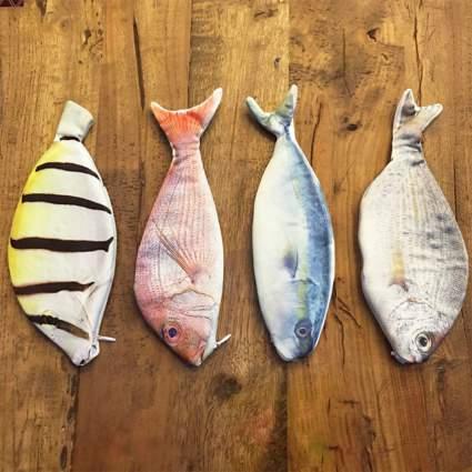 Realistic fish pencil cases
