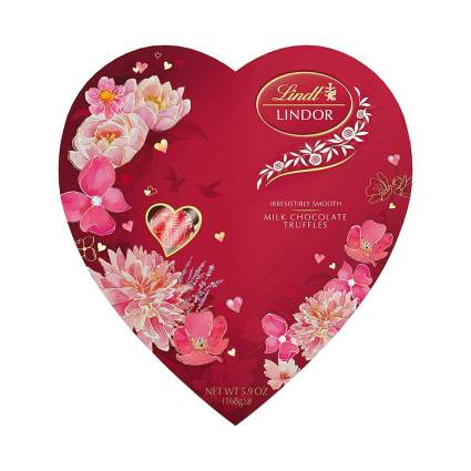 Red Lindt truffle heart