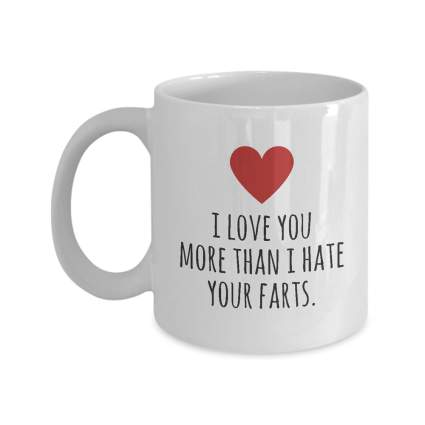 Funny love coffee cup gift
