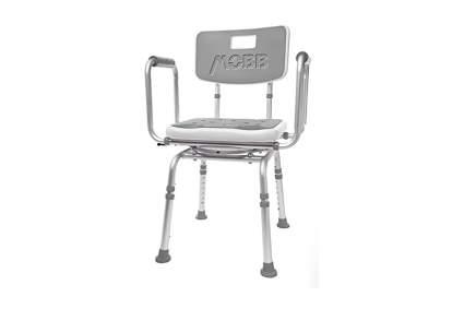 Grey shower chair