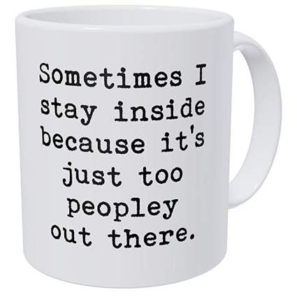 Introvert coffee cup