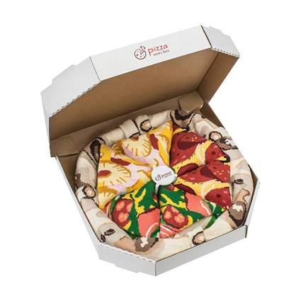 Novelty box of pizza socks