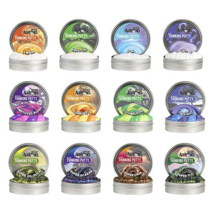 12 mini thinking putty jars