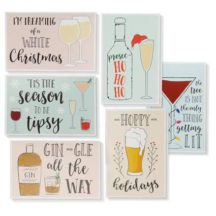 alcohol funny xmas card