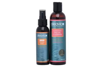 Dark bottles of Aleavia skincare