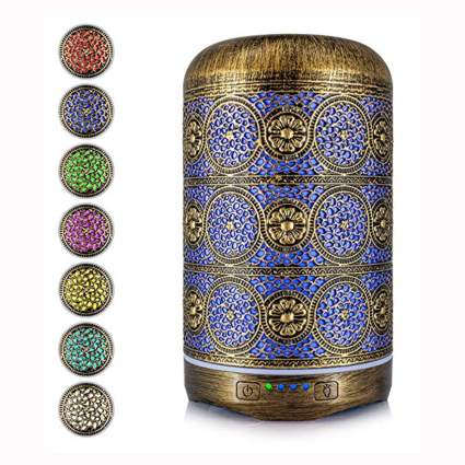 metal aromatherapy diffuser for essential oils