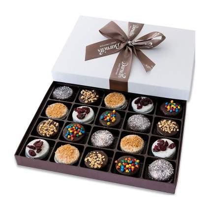 Box of chocolate dipped oreos