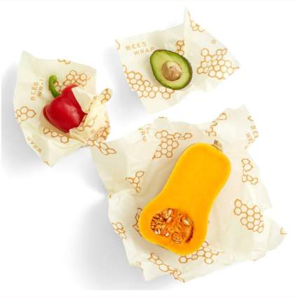beeswax reusable food storage wrappers