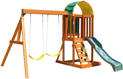 big backyard kidkraft wood swing set