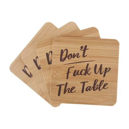 Bonnejoy coasters gag gifts for men