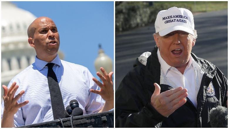 Cory Booker vs. Donald Trump