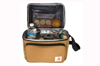 Gold carhartt double compartment insulated lunch cooler