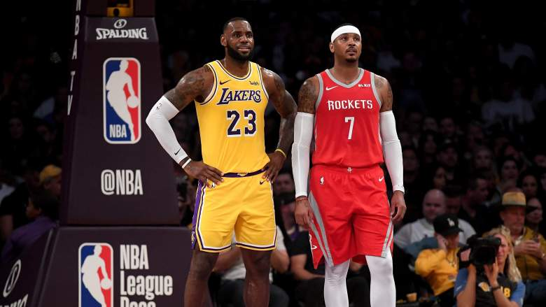 LeBron James Carmelo Anthony Lakers