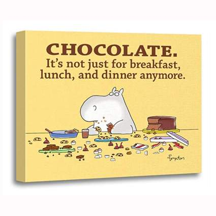 funny chocolate canvas art print