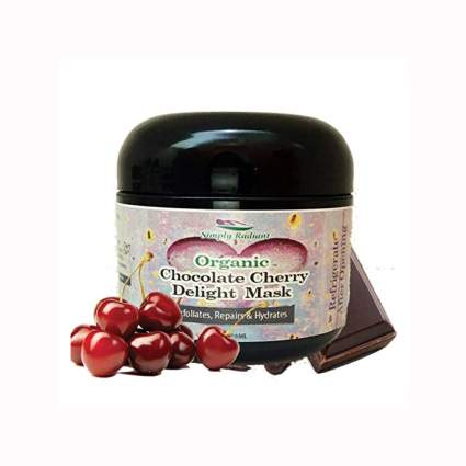 chocolate cherry organic face mask