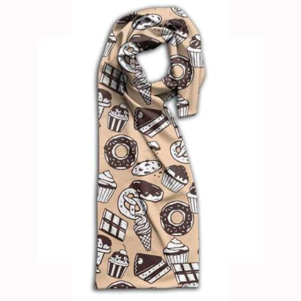 Chocolate treat printed scarf