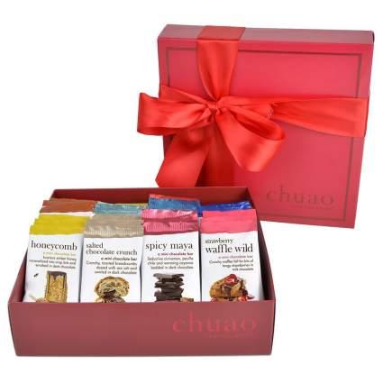 Box or Chuao Chocolatier chocolate bars