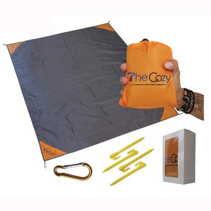 sand free compact beach blanket