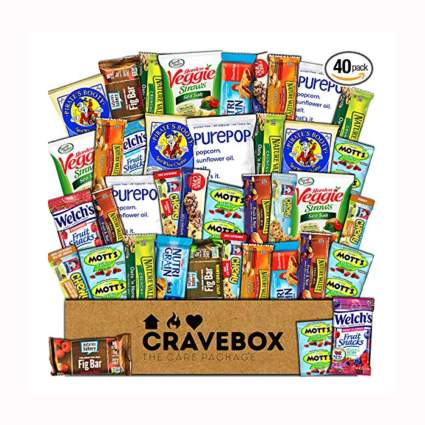 box full of healthy snacks