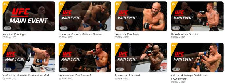 UFC on ESPN Plus Library