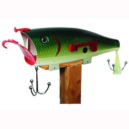 green fish shaped mailbox