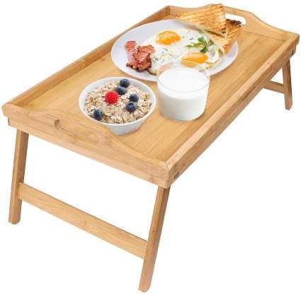 greenco bamboo breakfast table