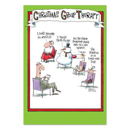 group therapy funny xmas card
