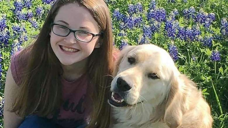 Hannah Westmoreland and Journey the service dog