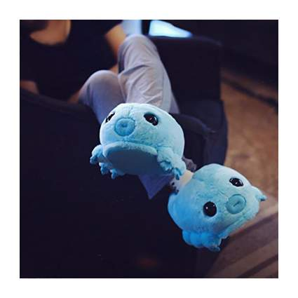 Blue tardigrade slippers