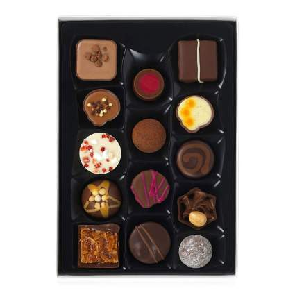 Beautifully decorated box of chocolates