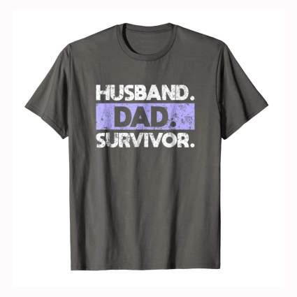 grey husband cancer survivor tee shirt