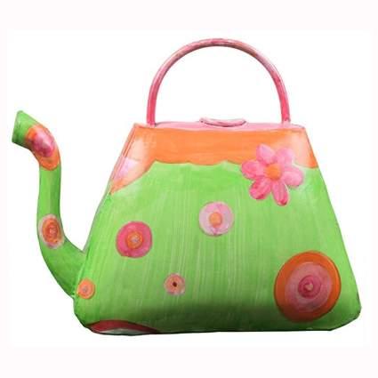 painted iron handbag watering can