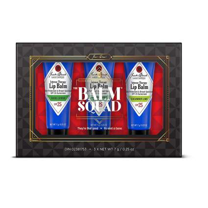 box of jack black lip balm set