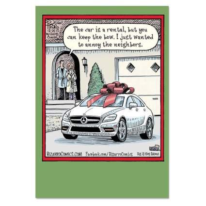 keep the bow funny xmas card