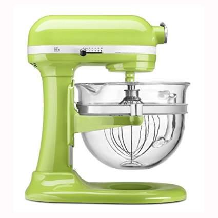 green KitchenAid lift stand mixer