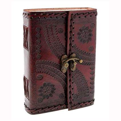 handmade embossed leather journal