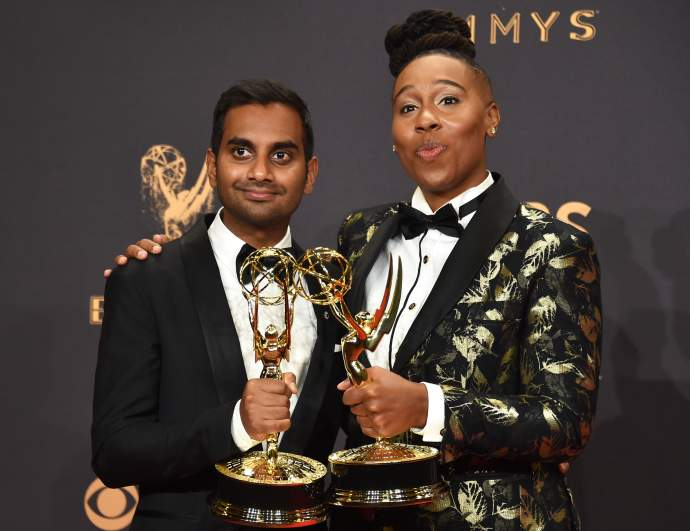 Lena Waithe and Aziz Ansari