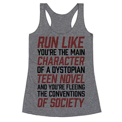 Funny running tank top