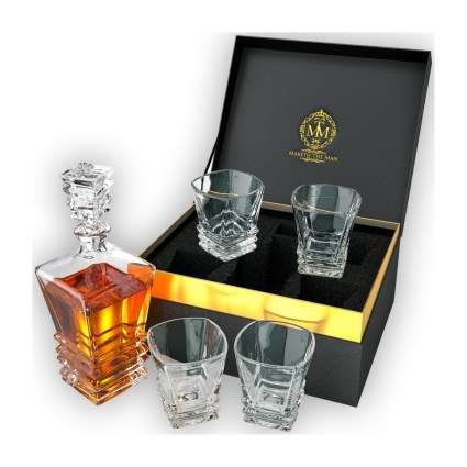 Maketh the Man whiskey decanter and glasses gifts for grandpa