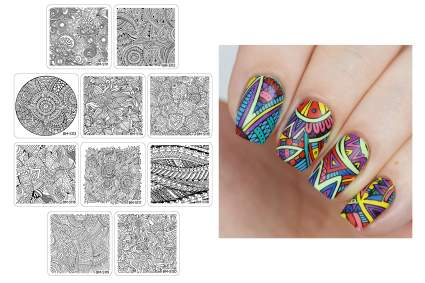 Maniology paisley nail art plates with swatch