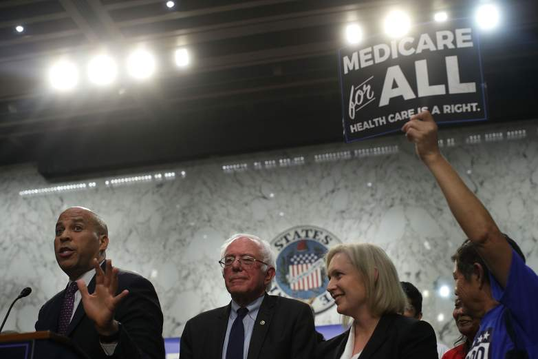 Cory Booker and Bernie Sanders and Kirsten Gillibrand