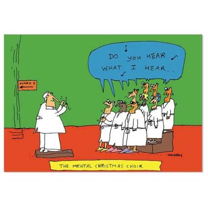 mental choir funny xmas card