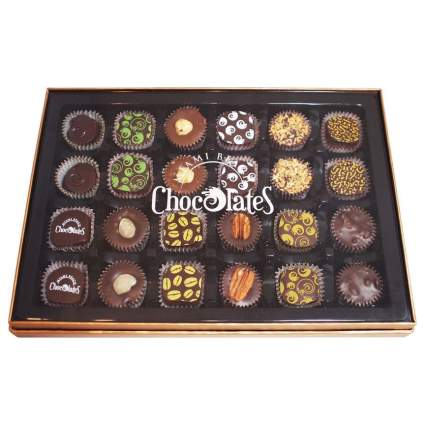 Colorful box of chocolates