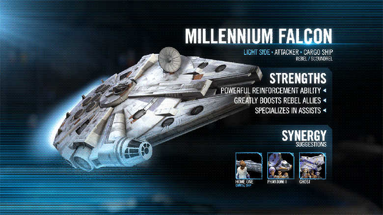 millennium falcon galaxy of heroes kit