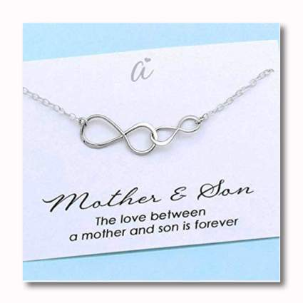 sterling silver mother and son necklace
